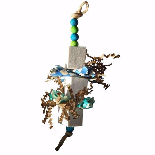 Balsa TriBal Parrot shredding Toy for Light Shredders