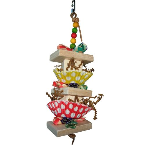pearls balsa cupcake parrot toy