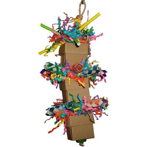 Parrot shredding toys-Little Box of Balsa Trio-