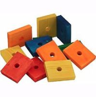 Zoo-Max Colourful Wooden Chunky Slices Medium, 12pk