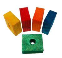 Zoo-Max Colourful Wooden Small Chunky Blocks, 12pk