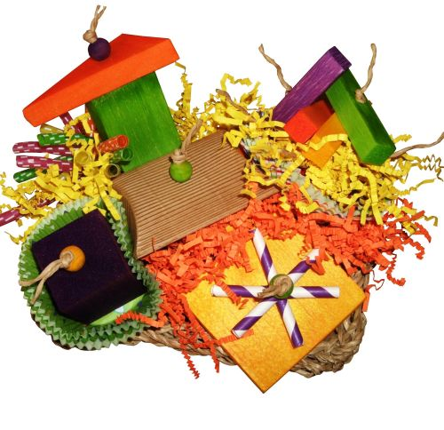 Shredding toys for parrots-Springtime