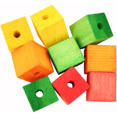 Featherland Colourful Wooden Cubes Large, Single
