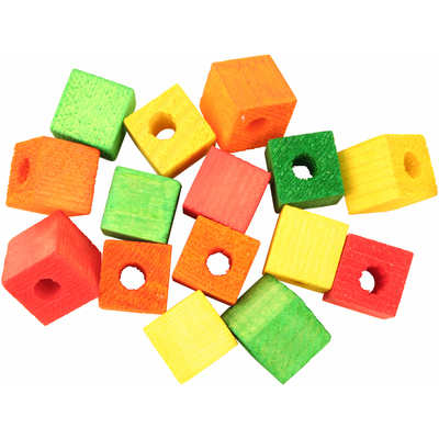 Featherland Colourful Wooden Cubes Small, Single