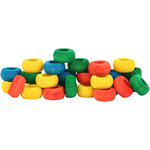 Zoo-Max Colourful Wooden Rings, Single