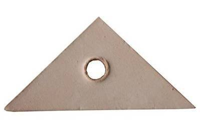 100% Natural Veg Tanned Leather Triangles, Single
