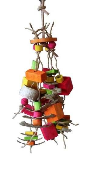 Tootie Frutie safe shredding toy for the smallest birds