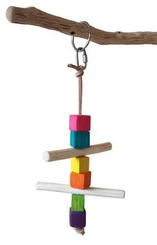 Swing Time Pine Balsa fun shredding swing toy for small birds