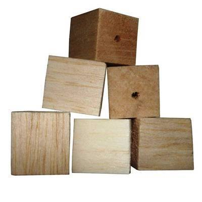 Balsa Cubes 25mm Natural Soft wood for Small birds, 12pk
