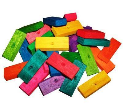 Balsa Bites Colourful Soft wood for Small birds, 27pk