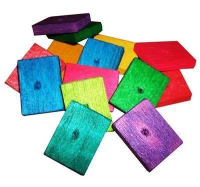 Balsa Slats Colourful Soft wood for Small birds, 18pk