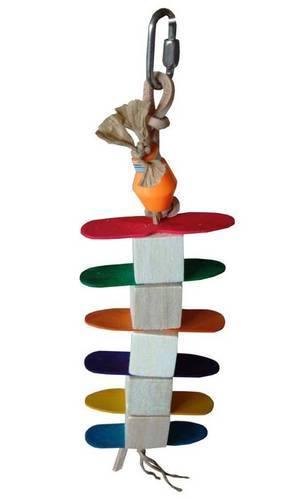 Icecube balsa toy for small birds