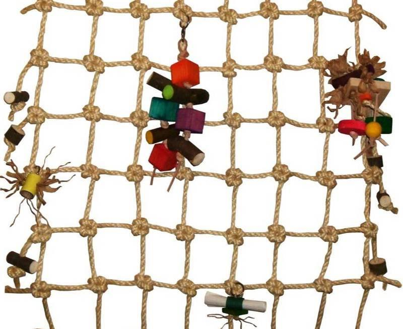 how to make a cargo net for parrots
