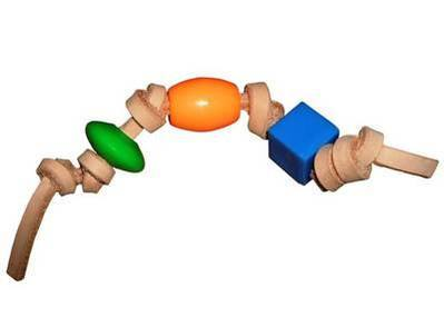 Foot Toy 3 Bead Knotty for Large to XL Large Parrots