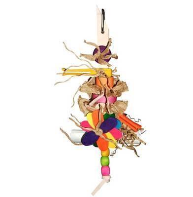 Gismo, Colourful shredding toy for Mini to Large beaks