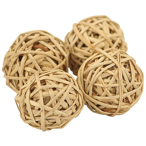 Munch Balls - Woven Willow 3cm Chew Toy for Parrots 4pk