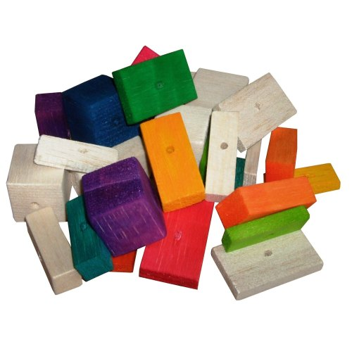 Balsa Colourful and Natural Mix Soft wood for Small birds, 30pk