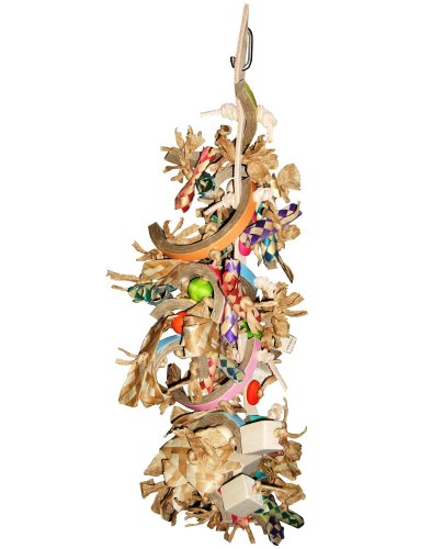 Bangle Fandangle, Preening Shredding Toy for Medium to Large Parrots