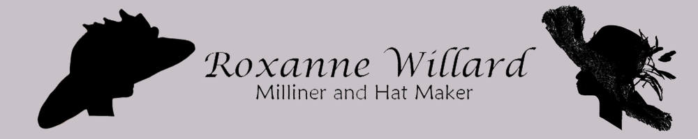 Roxanne Willard Hats, site logo.