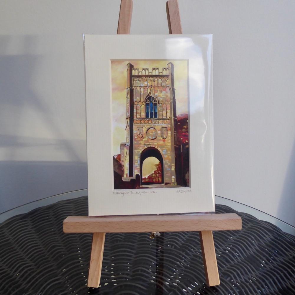 Pottergate Tower Mini Print