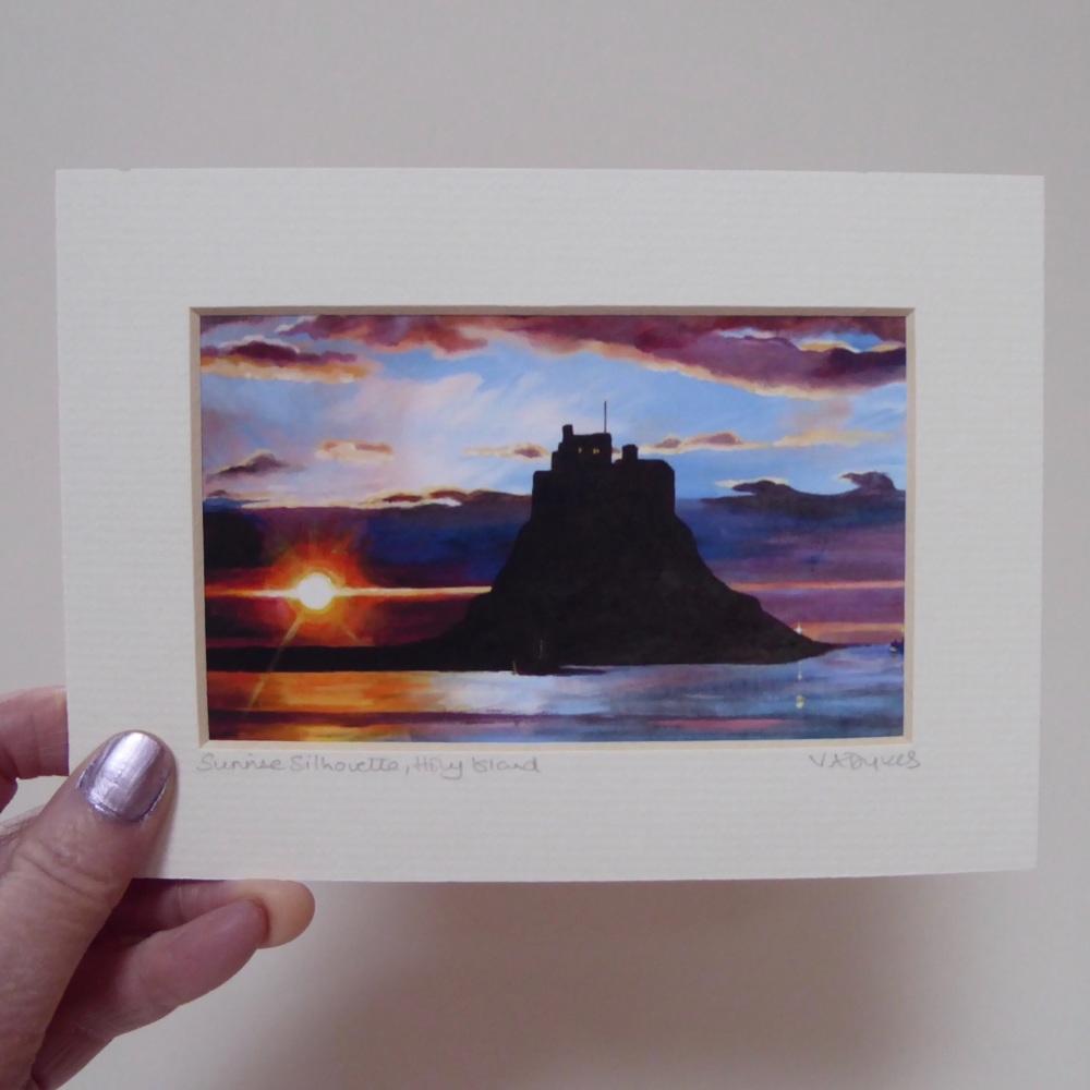 Sunrise Silhouette, Holy Island