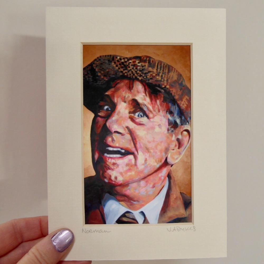 Norman Wisdom Mini Print