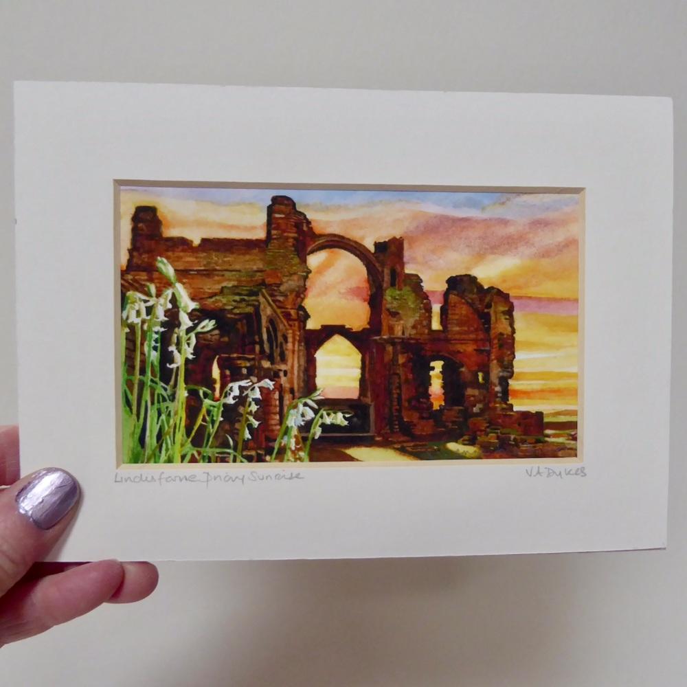Lindisfarne Priory Sunrise