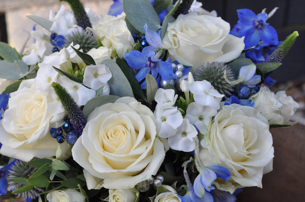 Blue and silver Bride detail 02