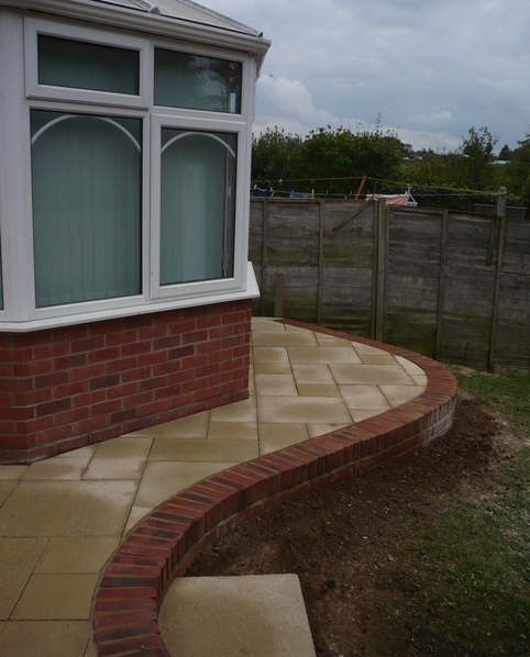 Curving patio
