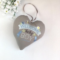 Welcome Baby Boy Heart, new baby gift