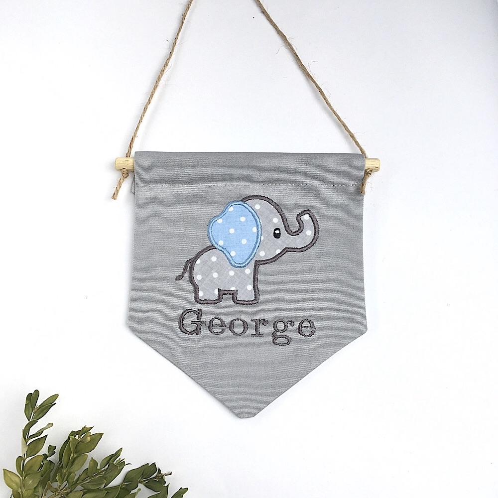 Elephant Pennant Flag