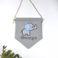 Blue Elephant Pennant Flag