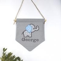 Blue Elephant Pennant Flag