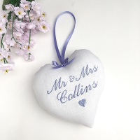 Mr & Mrs Wedding  Keepsake Heart