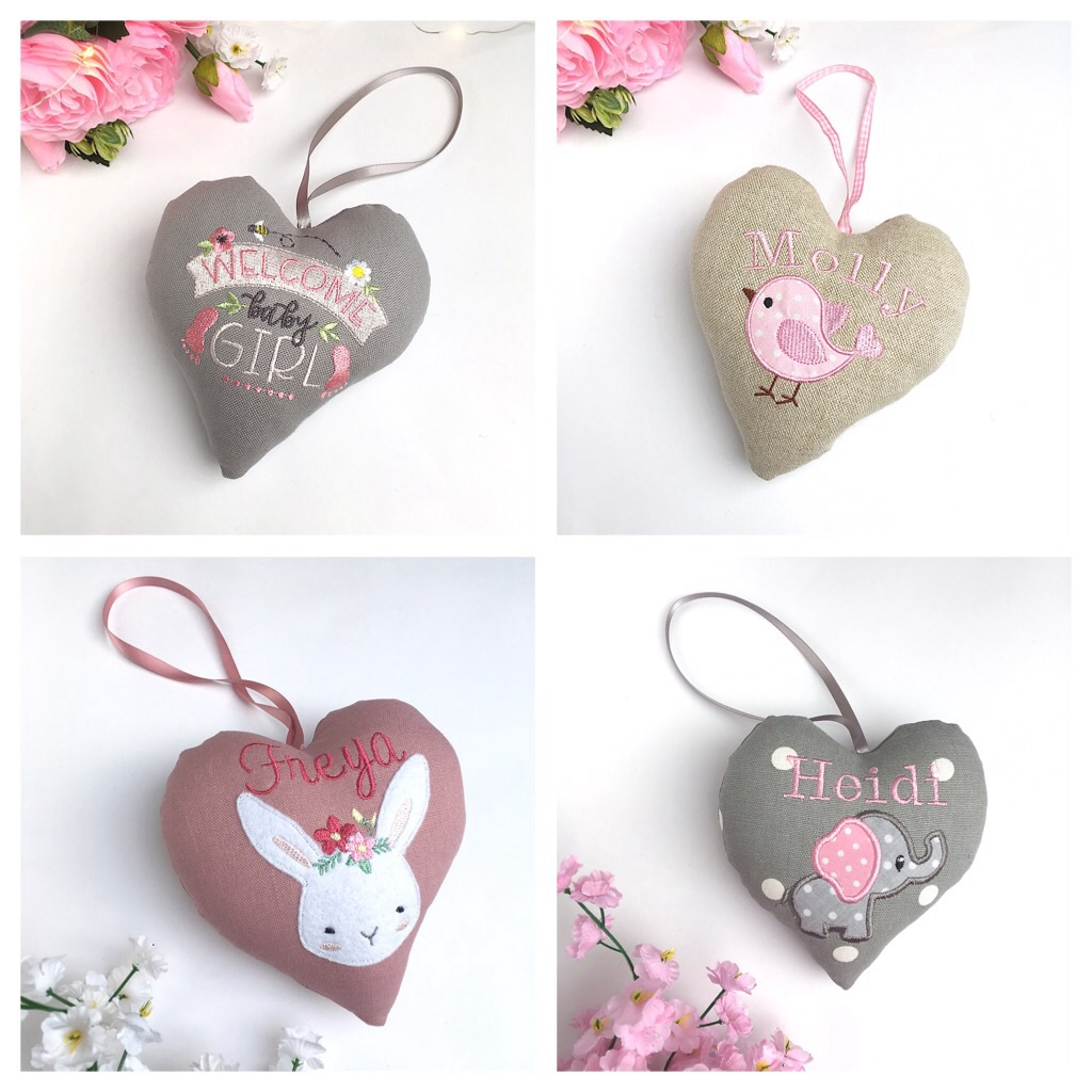 Baby Girl Keepsake Hearts