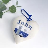 Personalised Caravan Heart