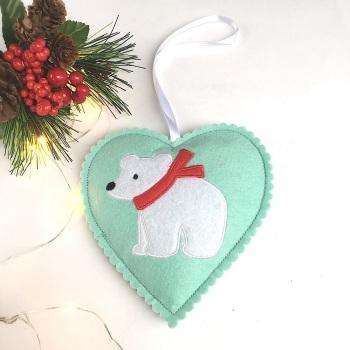 Polar Bear Felt Decoration