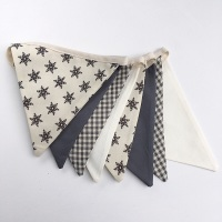 Scandi Style Bunting in Grey  & Cream