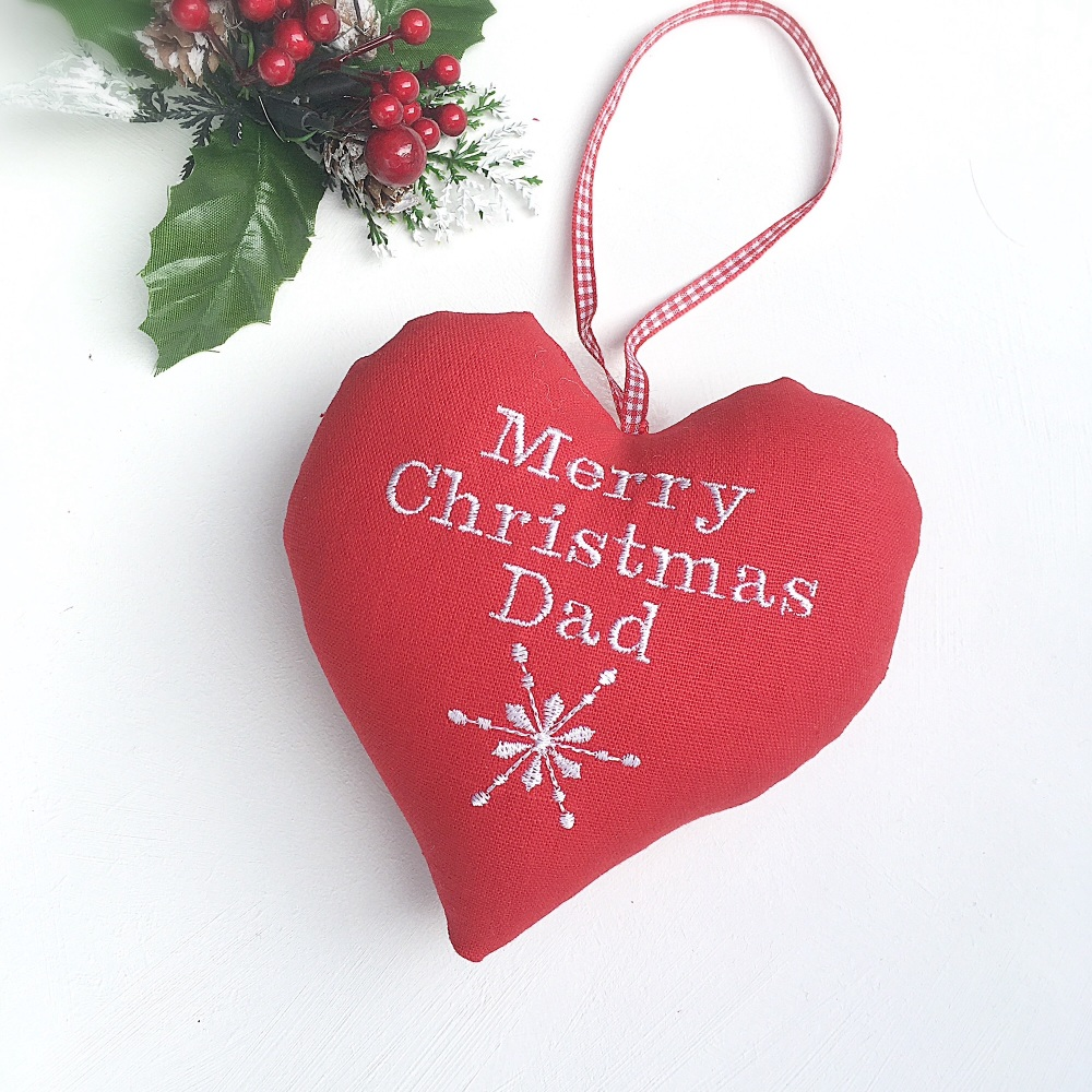 Personalised Christmas Snowflake  Heart