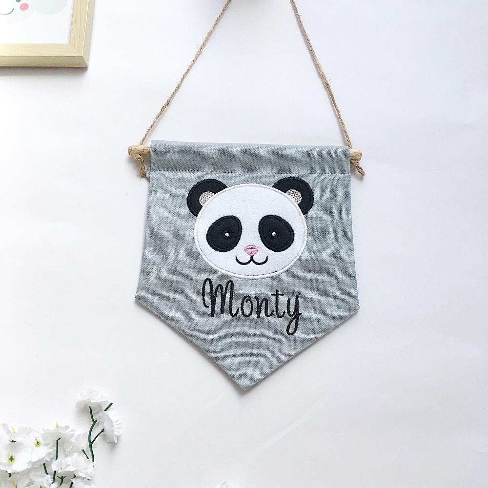 Panda Pennant Flag