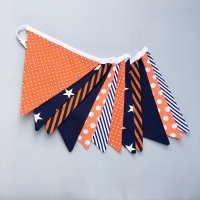 Orange & Navy Bunting