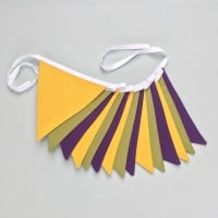 Mustard, Olive Green & Purple Bunting