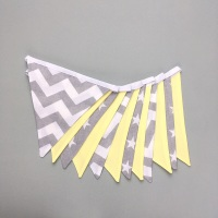 Grey & lemon bunting