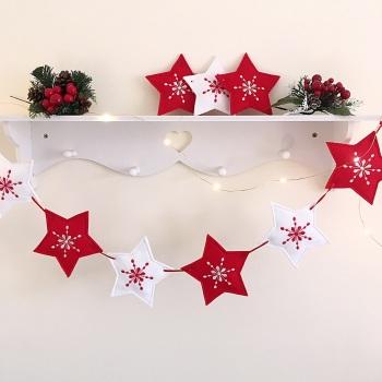 Christmas Scandi Style Star Bunting