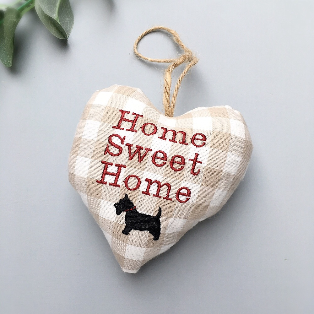 Home Sweet Home Dog Lovers Heart Decoration