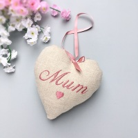 Personalised Mother's Day Linen Heart