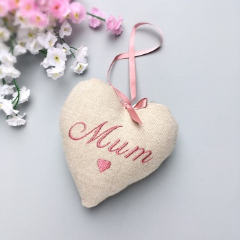 Personalised Linen Heart