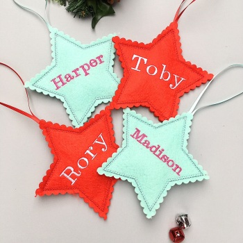 Christmas Personalised Star Decoration