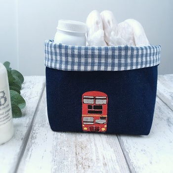 Fabric Basket with Red London Bus
