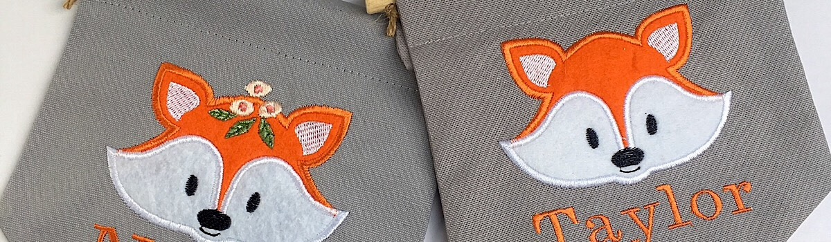 Embroidered Fox Pennant Flags